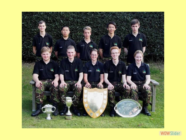 Gresham's Rifle Club team at the Cadet Skill At Arms Meeting, Bisley, 2014.