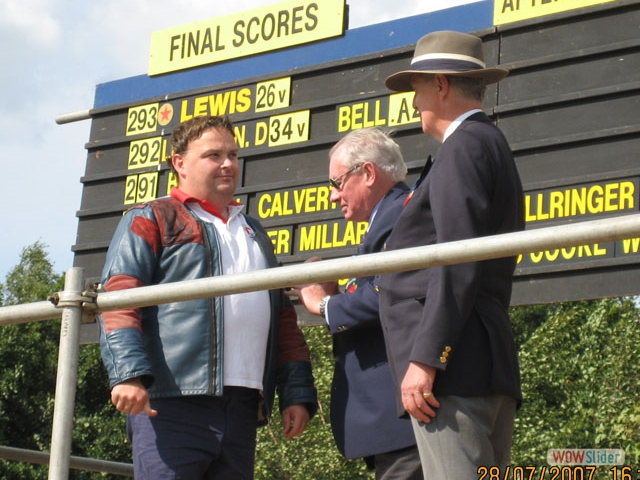 James 'Jumbo' Lewis receives the Queen's Prizewinner's Gold Badge, Bisley 2007.