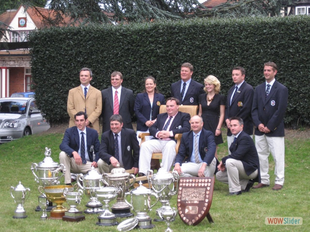 Norfolk County team, Bisley 2007. James 'Jumbo' Lewis occupies the Queen's Prizewinner's chair.